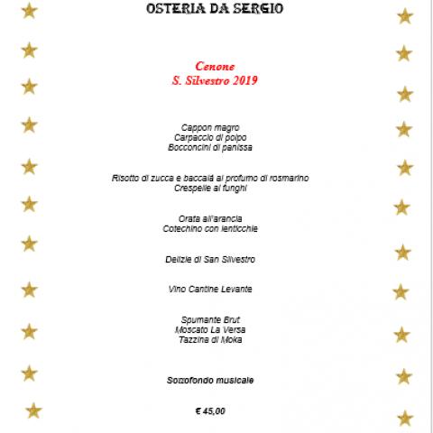 menu cenone 2019